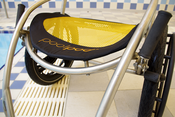 Images pool lift pool hoist a ground breaking design from london 2012 for Hydraulic chair lift for swimming pool