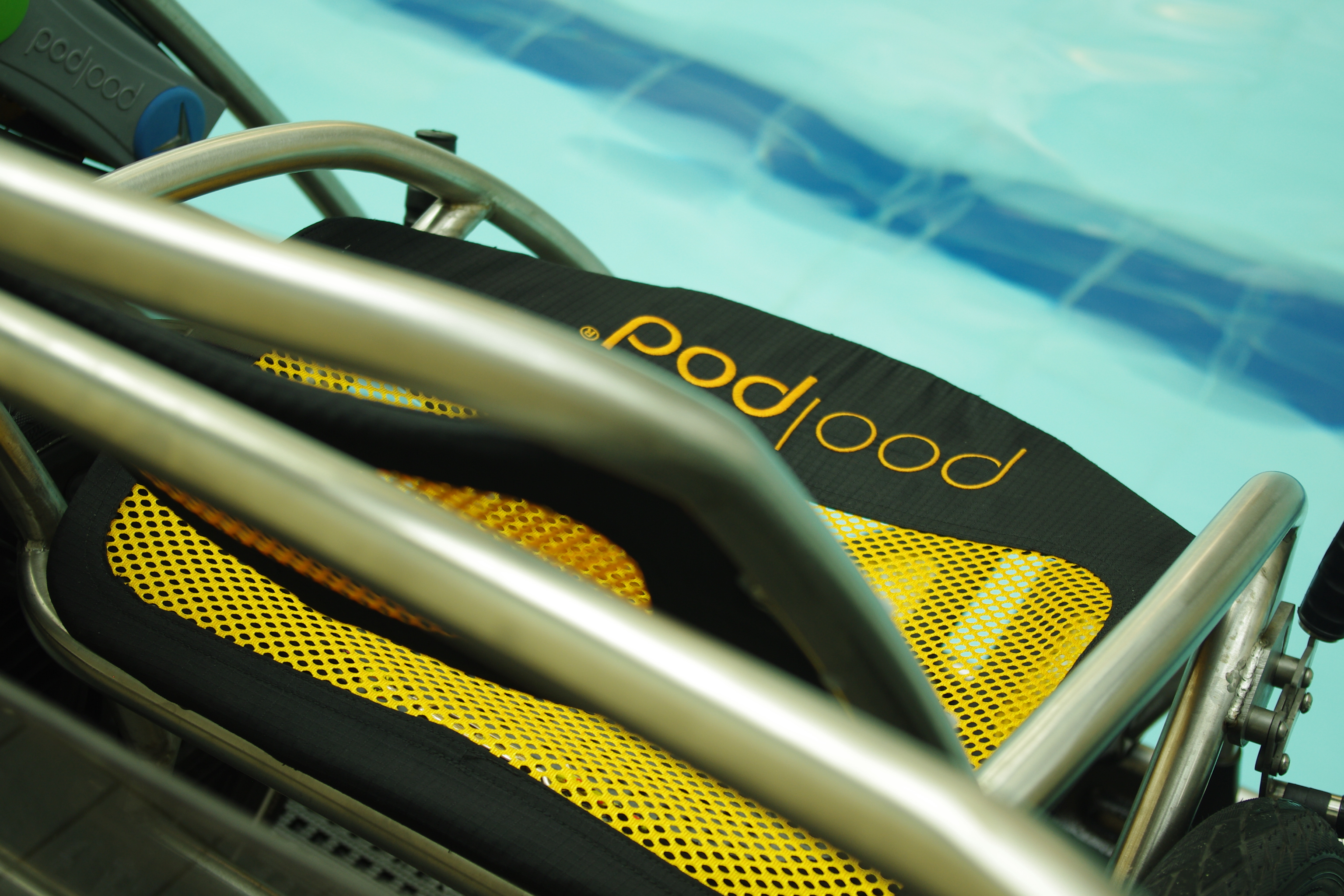Image of Poolpod wheelchair inside the Poolpod